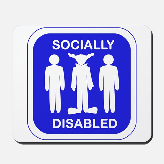 Socially Disabled Mousepad