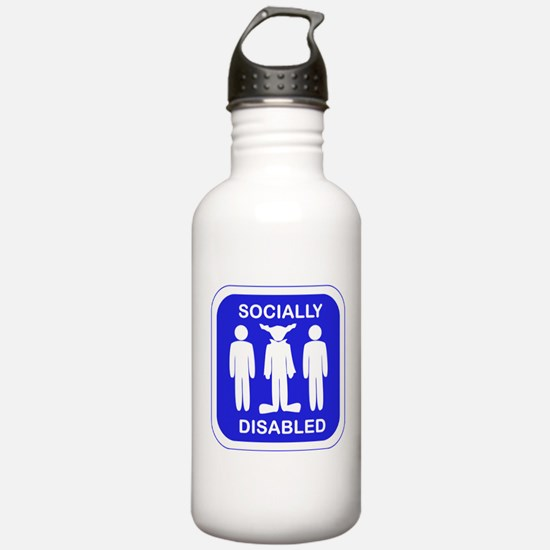 Socially Disabled Sports Water Bottle