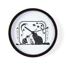 Arts and Cats Wall Clock