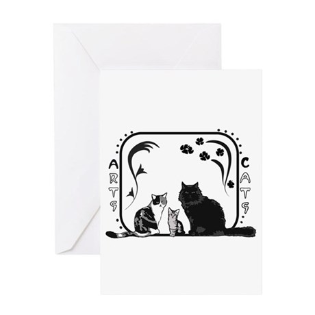 Arts and Cats Greeting Card