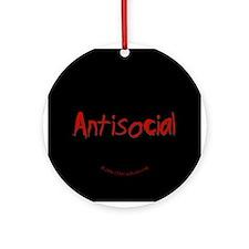 Antisocial  Ornament (Round)