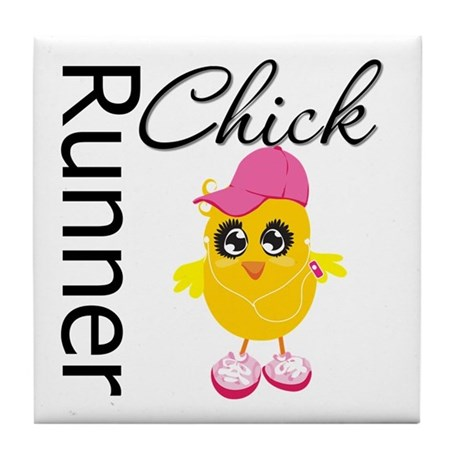 Runner Chick Tile Coaster