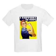 Rosie Supporting The Troops Kids T-Shirt