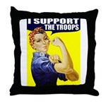 Rosie Supporting The Troops Throw Pillow