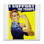 Rosie Supporting The Troops Tile Coaster
