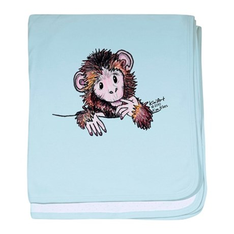 Pocket Monkey II baby blanket