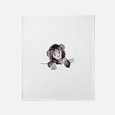 Pocket Monkey II Throw Blanket
