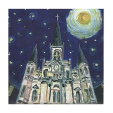 New Orleans Cathedral Tile Coaster