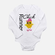 Runner Chick Long Sleeve Infant Bodysuit
