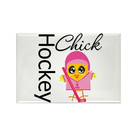 Hockey Chick Rectangle Magnet (100 pack)