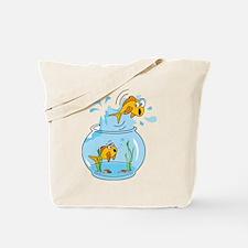 Unique Fish bowl Tote Bag