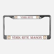 Masonic York Rite License Plate Frame