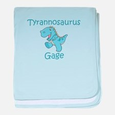 Tyrannosaurus Gage baby blanket