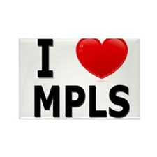 I Love Minneapolis Rectangle Magnet (10 pack)