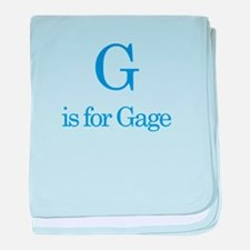 G is for Gage baby blanket