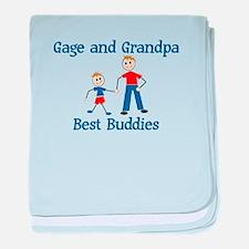 Gage & Grandpa - Best Buddies baby blanket