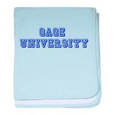 Gage University baby blanket