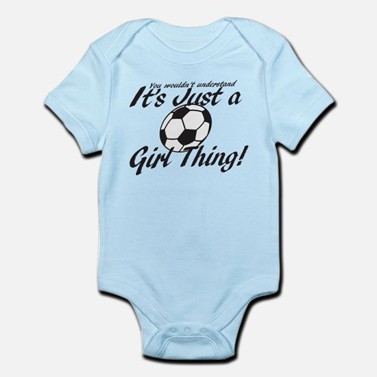 Soccer - It's a Girl Thing! Infant Bodysuit