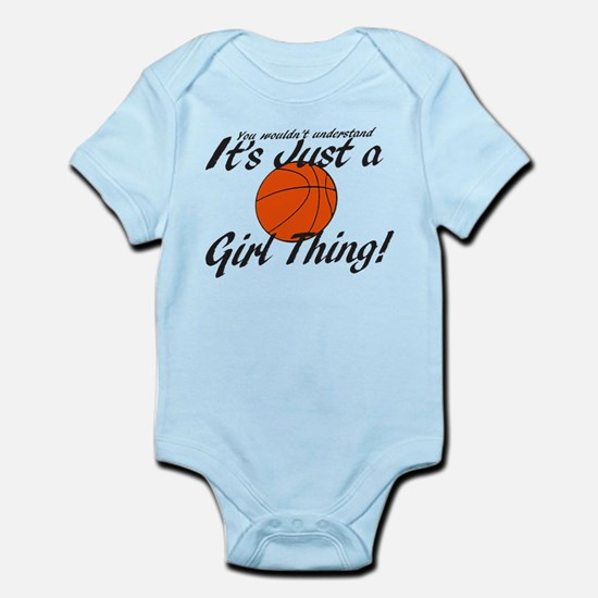 Basketball - It's a Girl Thing! Infant Bodysuit