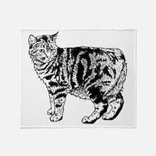 Manx Cat Throw Blanket