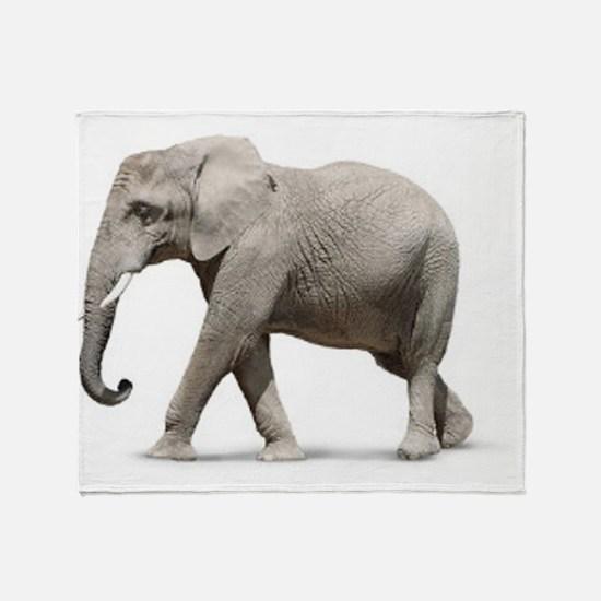 Elephant photo Throw Blanket
