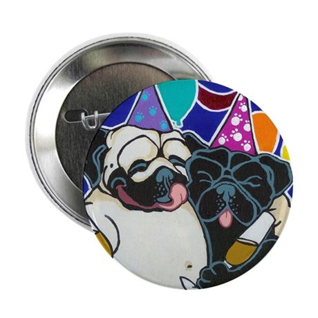 Pug Party Button