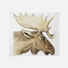 Moose Drawing Throw Blanket