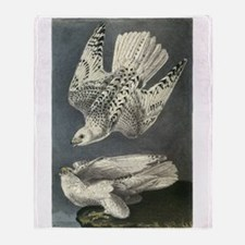 Gyrfalcon art Throw Blanket