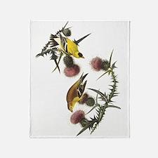 American Goldfinch Throw Blanket