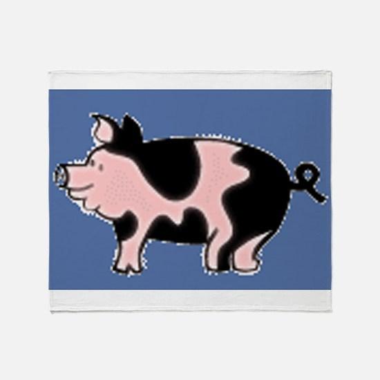 pig drawing Throw Blanket