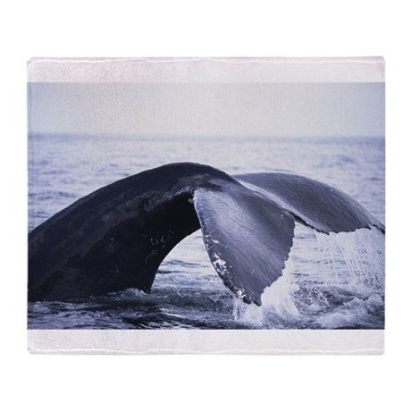 Whales Tail Throw Blanket