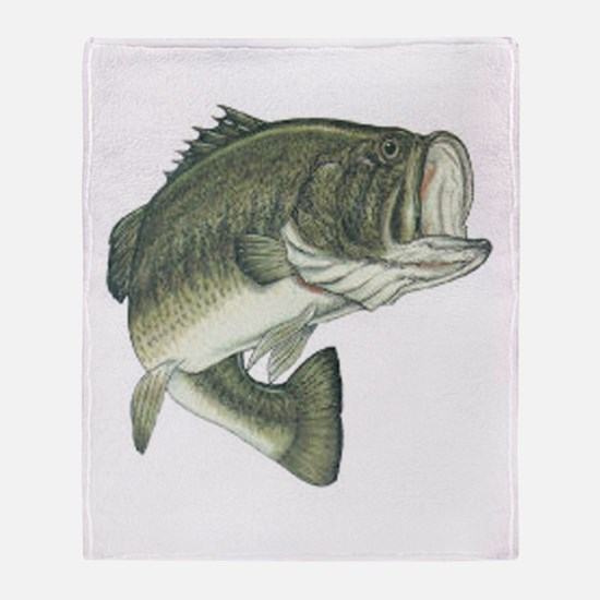 Large Mouth Bass Throw Blanket