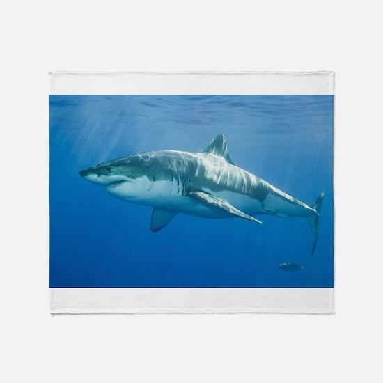 Great White Shark Throw Blanket