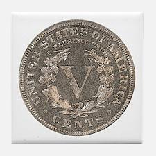 Liberty Nickel Reverse Tile Coaster