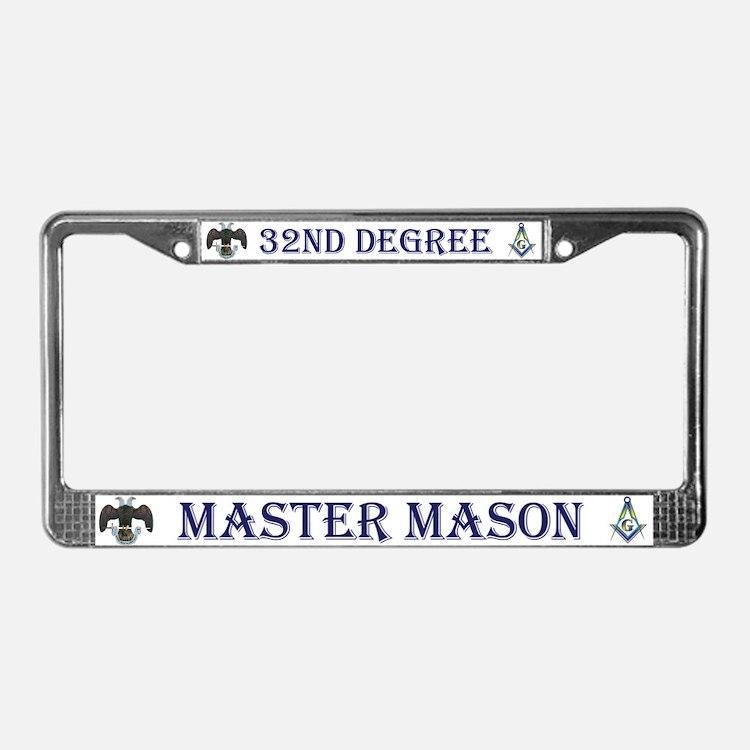 Masonic 32nd Degree License Plate Frame