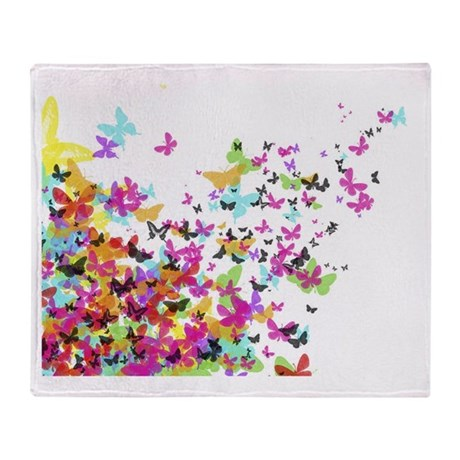 japanese butterflies Throw Blanket