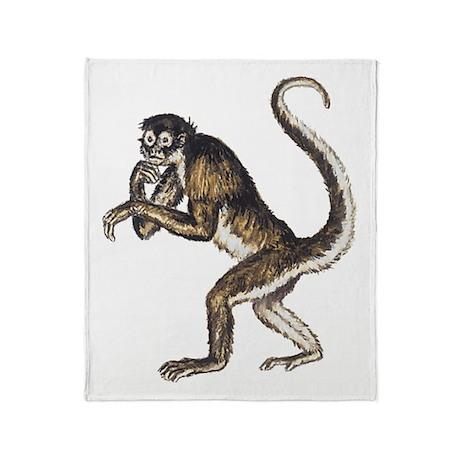 Spider Monkey Throw Blanket
