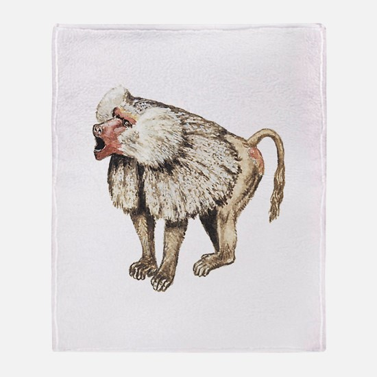 Baboon Throw Blanket