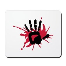 Bloody hand Mousepad