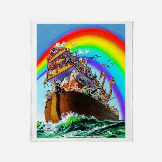 Noah's Ark drawing Throw Blanket