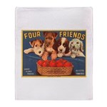 Four Friends Throw Blanket