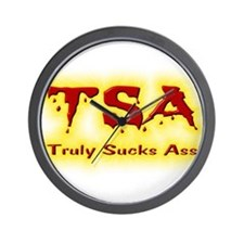 TSA Truly Sucks Ass Wall Clock