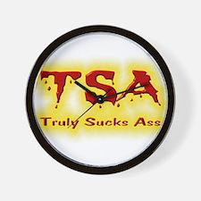 TSA Truly Sucks Ass Wall Clock