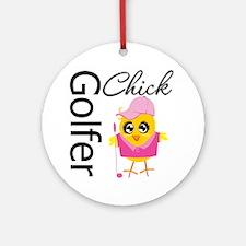 Golfer Chick Ornament (Round)