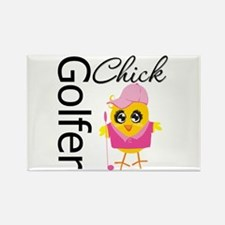 Golfer Chick Rectangle Magnet (100 pack)
