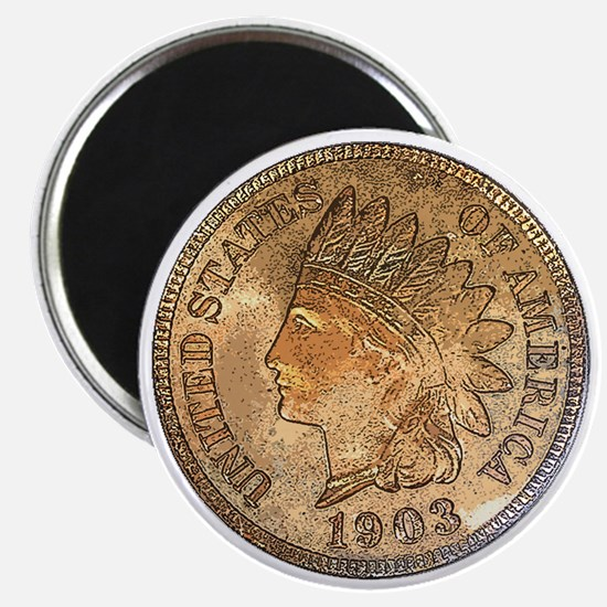 Indian Head Penny Obverse Magnet