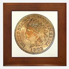 Indian Head Penny Obverse Framed Tile
