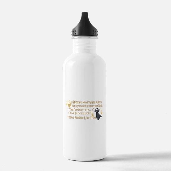 Women Are Like Angels Sports Water Bottle