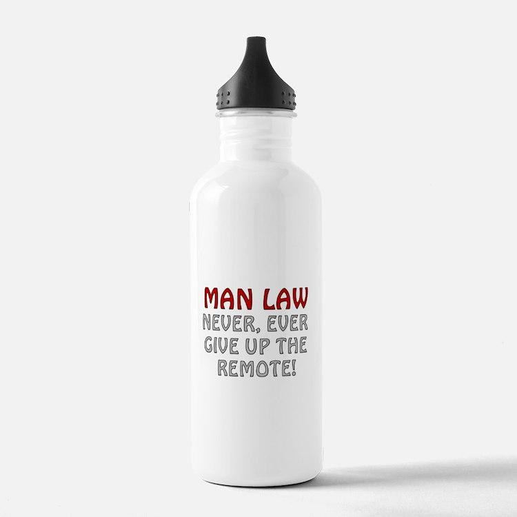 Man Law Water Bottle