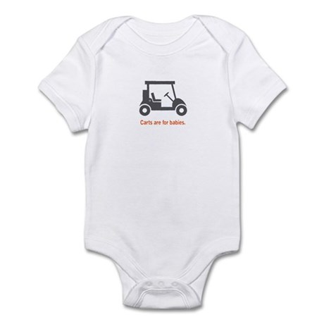 Golf - Carts - Infant Bodysuit (Orange)